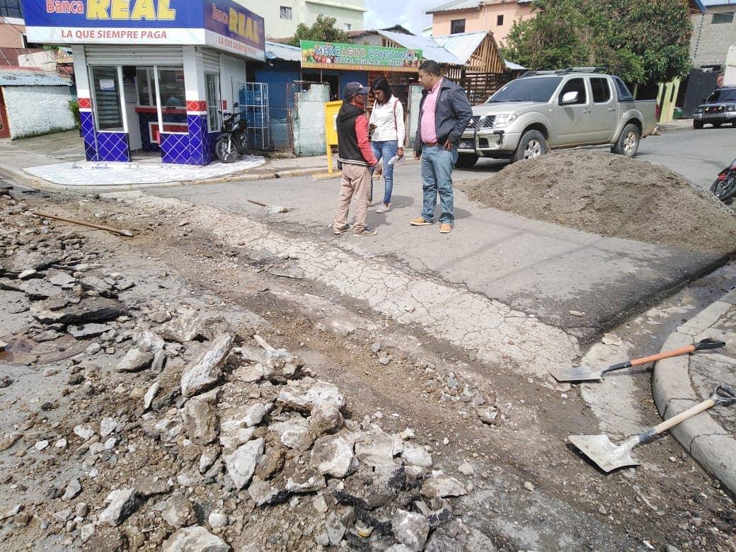Reconstrucción de badenes en el casco urbano