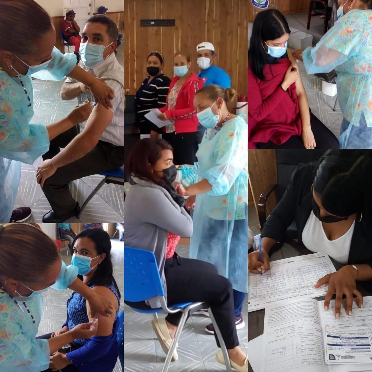 Jornada de Vacunacion  contra el covid-19  a los empleados del Ayuntamiento Municipal